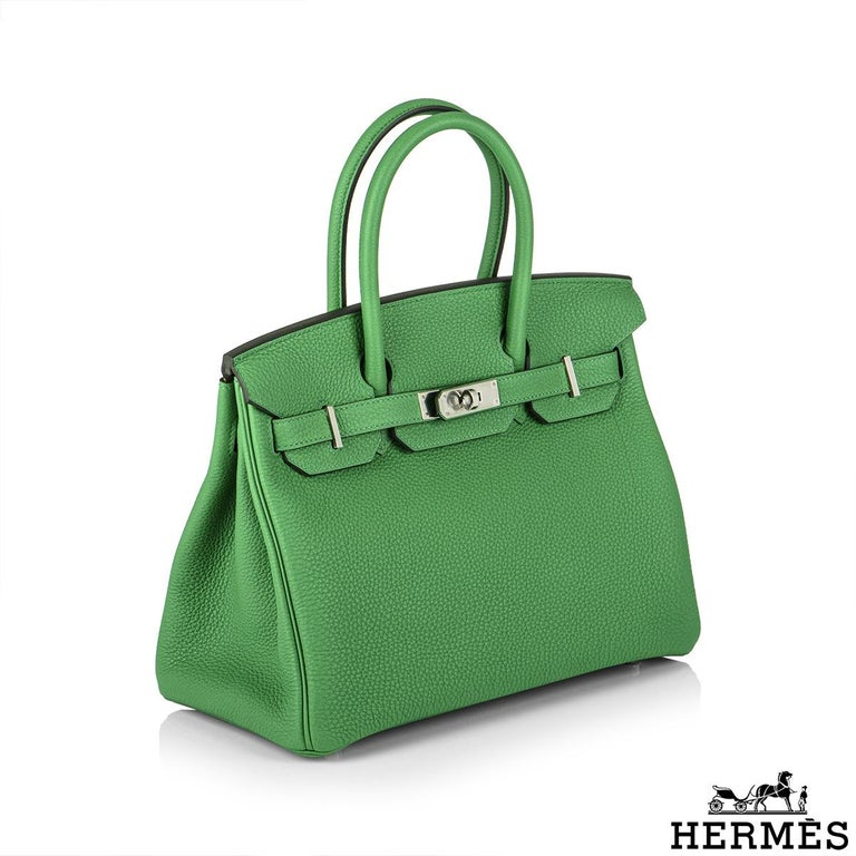 Hermès Birkin 30 Bambou/ Caramel Verso Togo PHW In New Condition For Sale In London, GB