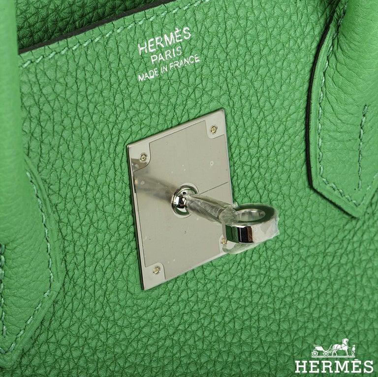 Women's Hermès Birkin 30 Bambou/ Caramel Verso Togo PHW For Sale