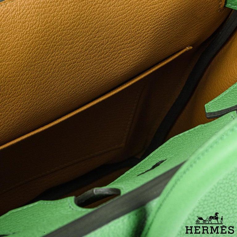 Hermès Birkin 30 Bambou/ Caramel Verso Togo PHW For Sale 2