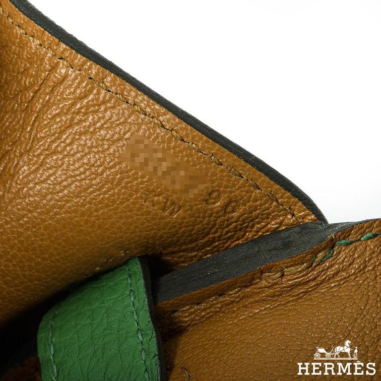 Hermès Birkin 30 Bambou/ Caramel Verso Togo PHW For Sale 3