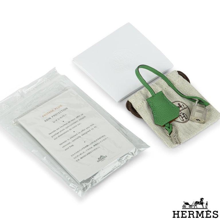 Hermès Birkin 30 Bambou/ Caramel Verso Togo PHW For Sale 4