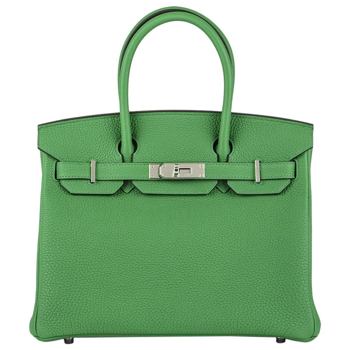 Hermès Birkin 30 Bambou/ Caramel Verso Togo PHW
