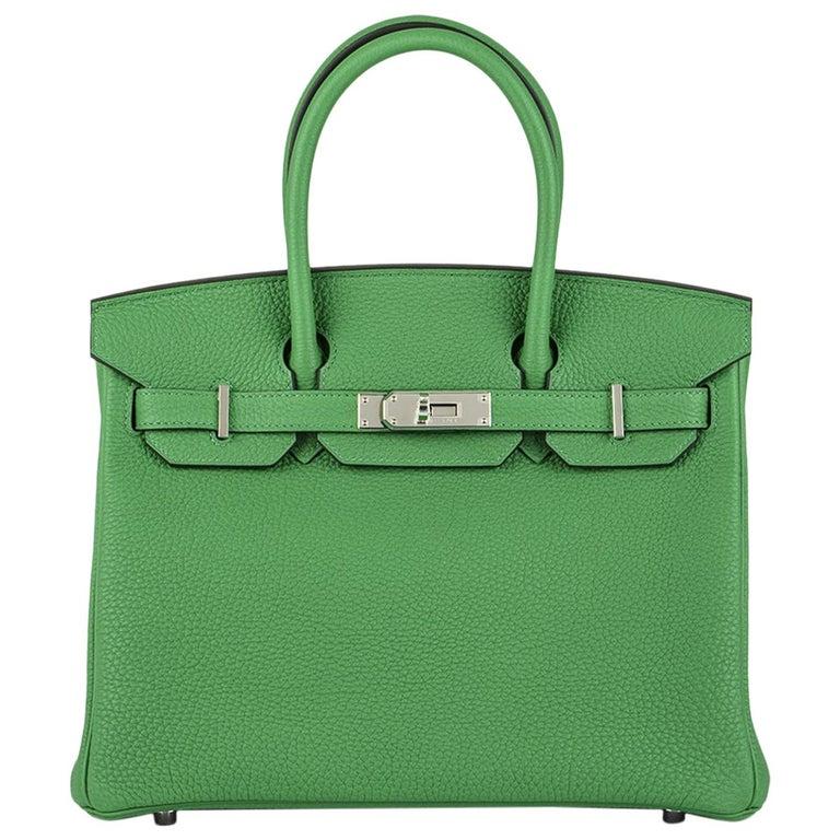 Hermès Birkin 30 Bambou/ Caramel Verso Togo PHW For Sale