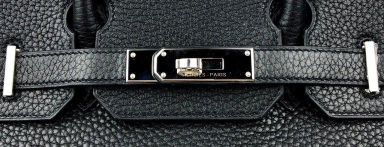Hermes Birkin 30 Black Noir Palladium Hardware  For Sale 1
