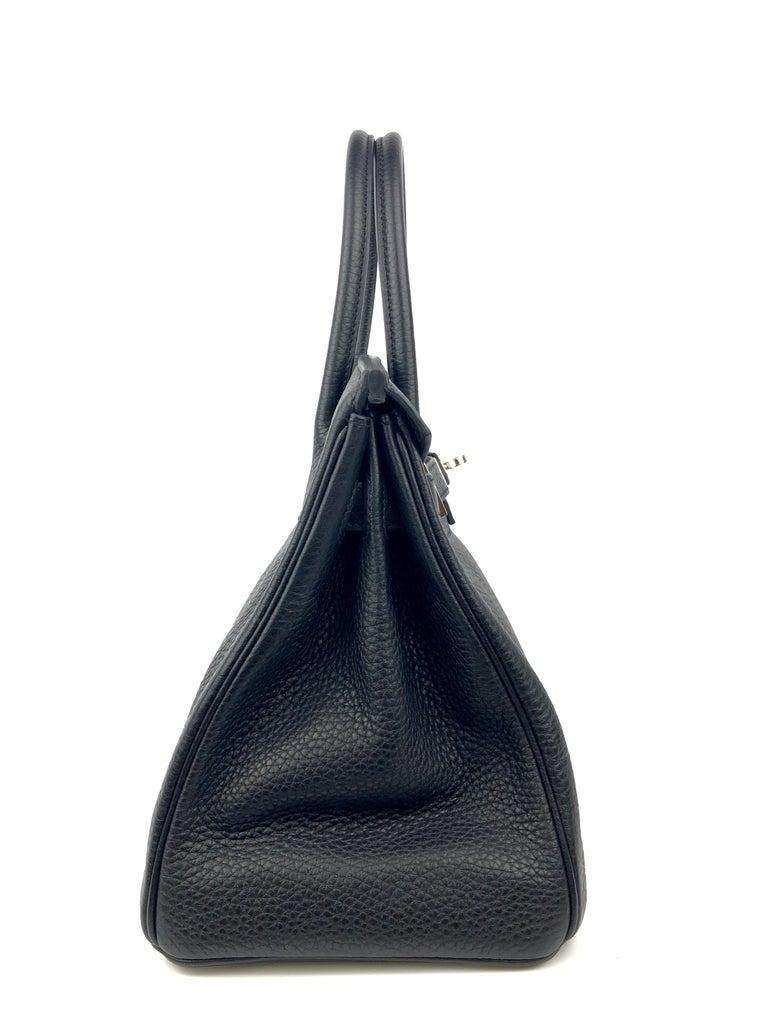 Hermes Birkin 30 Black Noir Palladium Hardware  For Sale 3