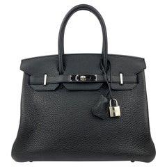 Hermes Birkin 30 Black Noir Palladium Hardware