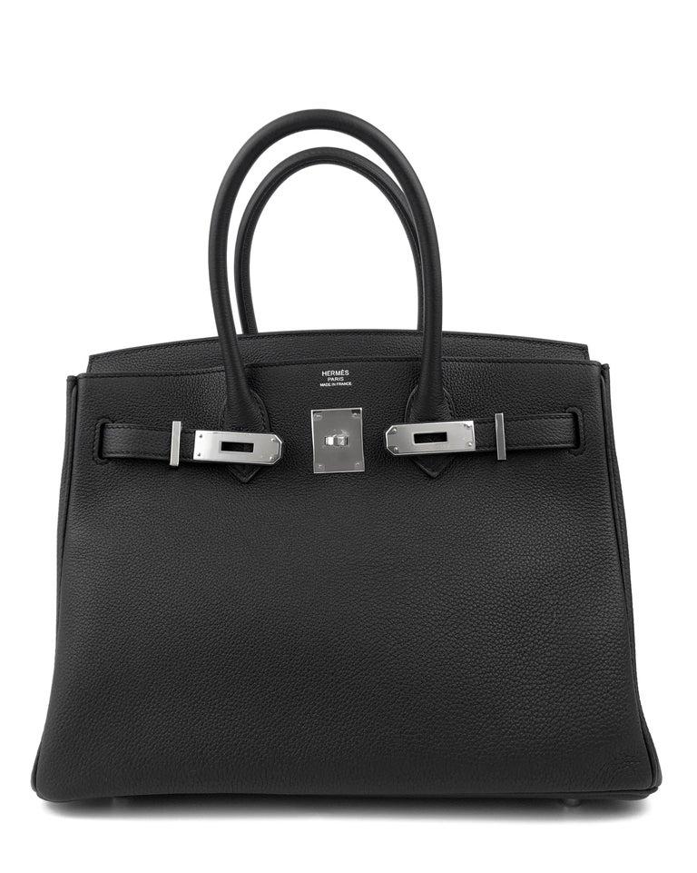 Hermes Birkin 30 Black Noir Togo Palladium Hardware NEW In New Condition In Miami, FL