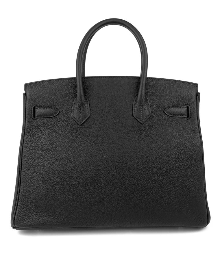 Women's or Men's Hermes Birkin 30 Black Noir Togo Palladium Hardware NEW