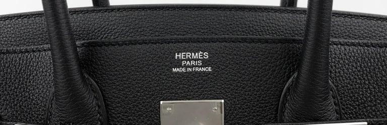 Hermes Birkin 30 Black Noir Togo Palladium Hardware NEW 2