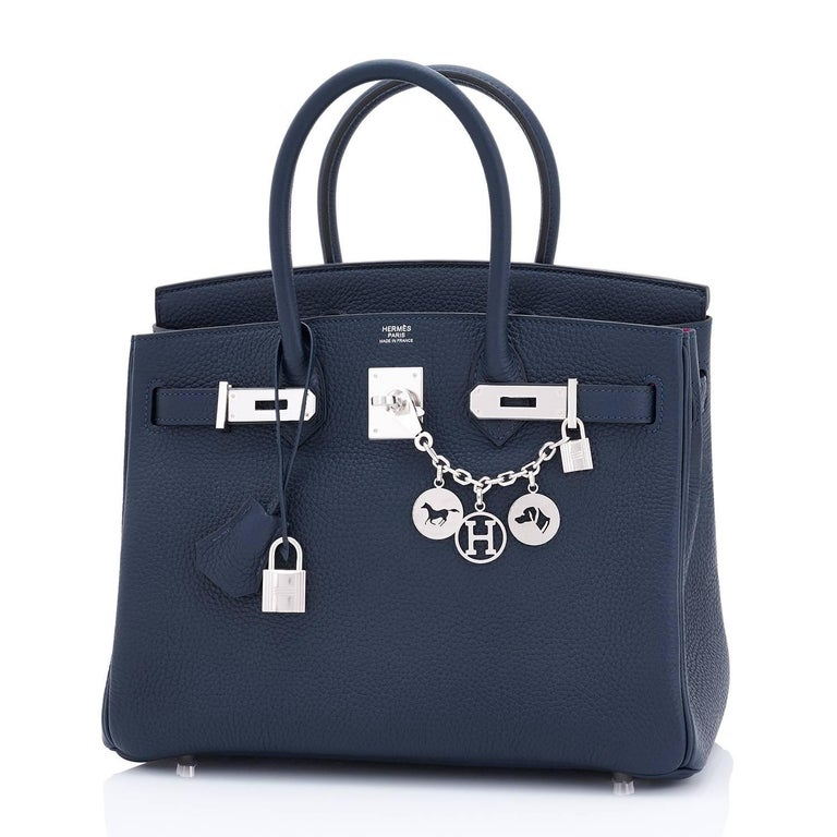 Women's or Men's Hermes Birkin 30 Blue Nuit