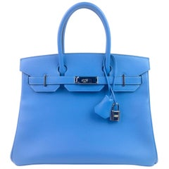 Hermes Birkin 30 Blue Paradise Epsom Palladium Hardware