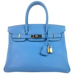 Hermes Birkin 30 Blue Paradise Gold Hardware