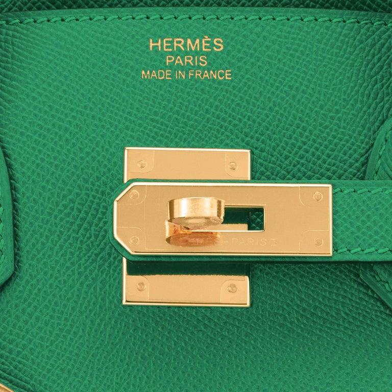 Hermes Birkin 30 Cactus Emerald Green Epsom Gold Bag Y Stamp, 2020 For Sale 5