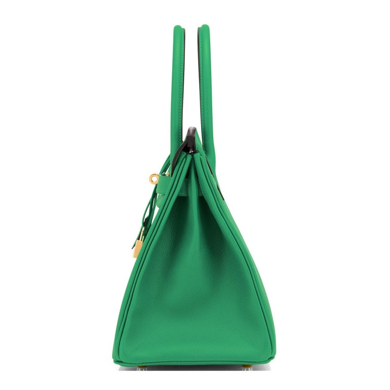 Women's or Men's Hermes Birkin 30 Cactus Emerald Green Epsom Gold Bag Y Stamp, 2020 For Sale