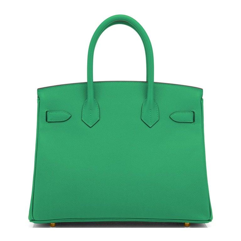 Hermes Birkin 30 Cactus Emerald Green Epsom Gold Bag Y Stamp, 2020 For Sale 1
