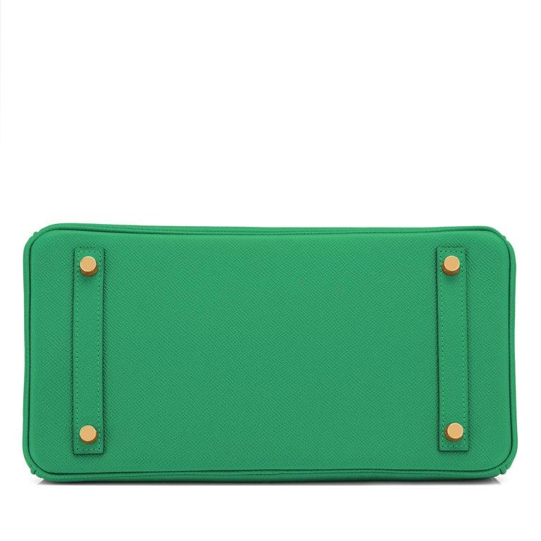 Hermes Birkin 30 Cactus Emerald Green Epsom Gold Bag Y Stamp, 2020 For Sale 3