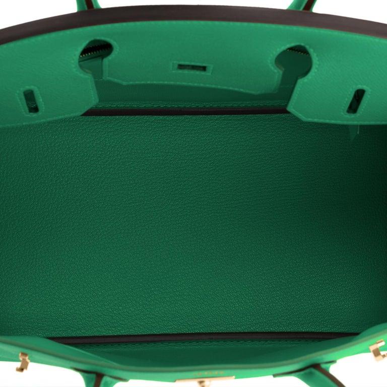 Hermes Birkin 30 Cactus Emerald Green Epsom Gold Bag Y Stamp, 2020 For Sale 4