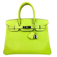 Hermes Birkin 30 Candy Collection Kiwi Lime Linchen Green Palladium Hardware
