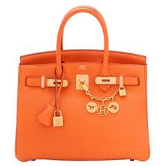 Hermes Birkin 30 Classic Hermes Orange Birkin Gold Hardware