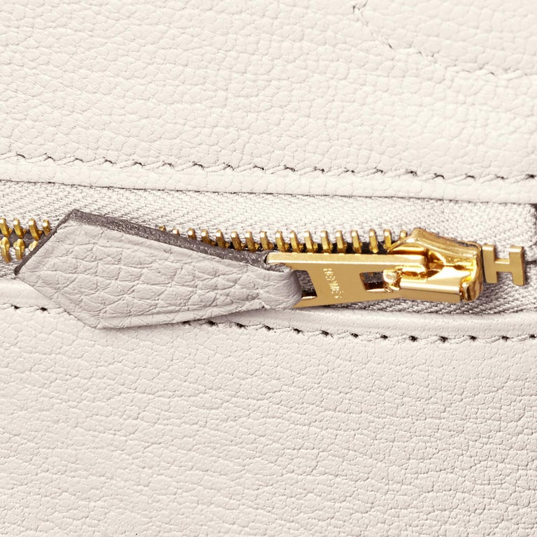 Hermes Birkin 30 Craie Togo Chalk Off White Gold Hardware Bag NEW For Sale 6