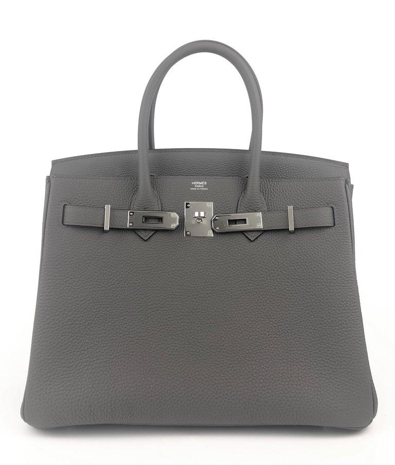 Hermes Birkin 30 Etain Gray Grey Togo Palladium Hardware NEW In New Condition In Miami, FL