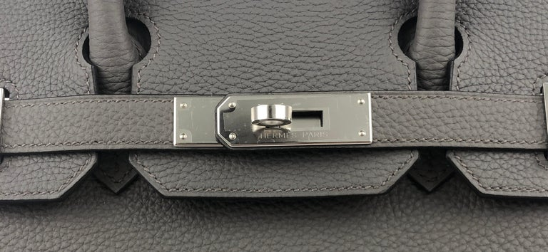 Hermes Birkin 30 Etain Gray Grey Togo Palladium Hardware NEW 1