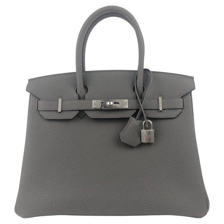 Hermes Birkin 30 Etain Gray Grey Togo Palladium Hardware NEW
