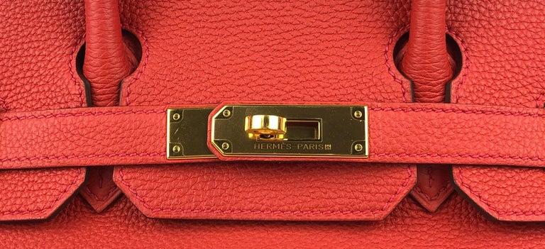 Hermes Birkin 30 Geranium Red Togo Gold Hardware 1