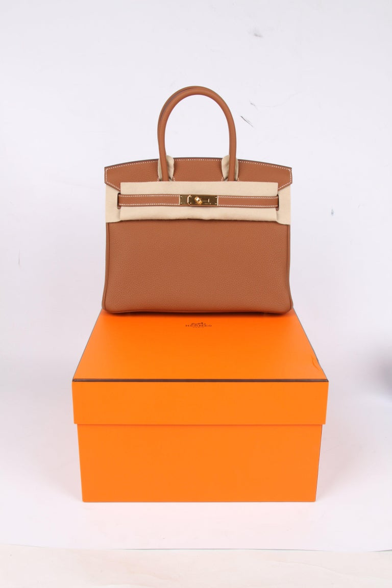 9d4bd98e6166 Hermes Birkin 30 Gold - gold hardware 2018 For Sale at 1stdibs
