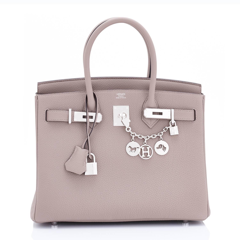 75aa202e6b Hermes Birkin 30 Gris Asphalte Dove Grey Togo Palladium Hardware Birkin Bag  at 1stdibs