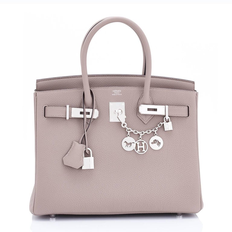 Hermes Birkin 30 Gris Asphalte Dove Grey Togo Birkin Asphalt Palladium Hardware Devastatingly gorgeous!   Gris Asphalte is a brand new color, and the best neutral to come from Hermes in many years. Brand New in Box. Store fresh. Pristine Condition