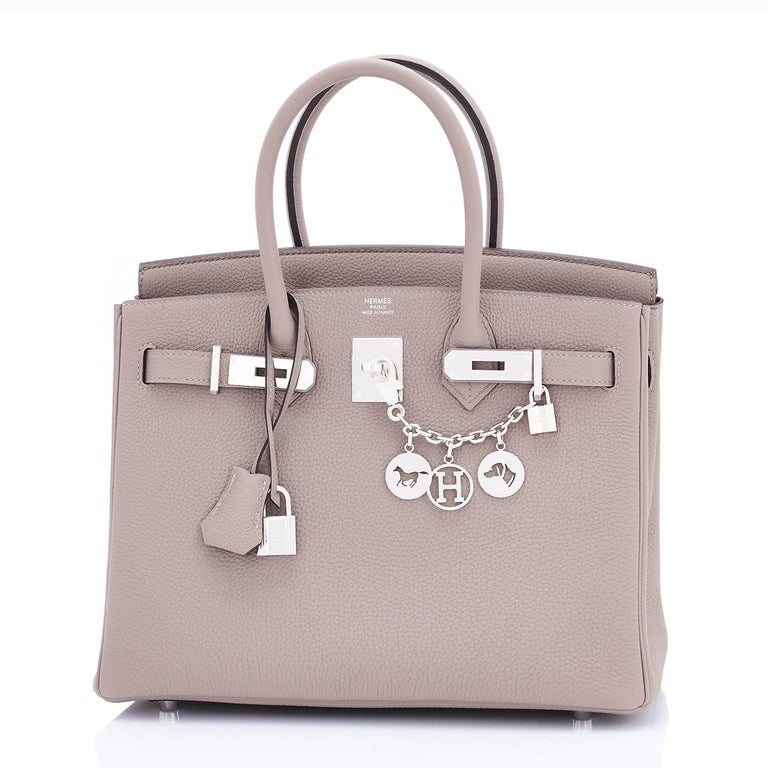 Hermes Birkin 30 Gris Asphalte Dove Grey Togo Palladium Hardware Birkin Bag In New Condition For Sale In New York, NY