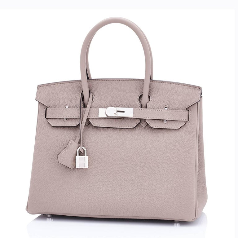 Hermes Birkin 30 Gris Asphalte Dove Grey Togo Palladium Hardware Birkin Bag For Sale 2