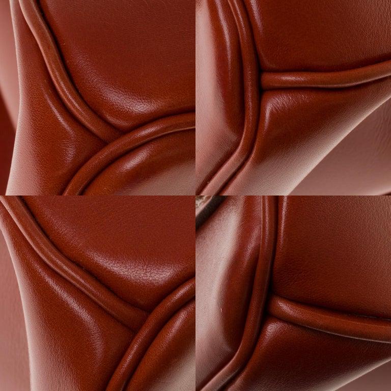 RARE Hermès Birkin 30 handbag in brick box calf leather and gold hardware For Sale 6