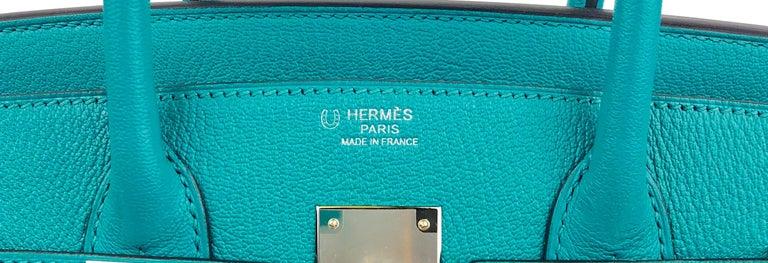 Hermes Birkin 30 HSS Special Order Blue Paon Chèvre Mysore Palladium Hwr 2018 For Sale 1