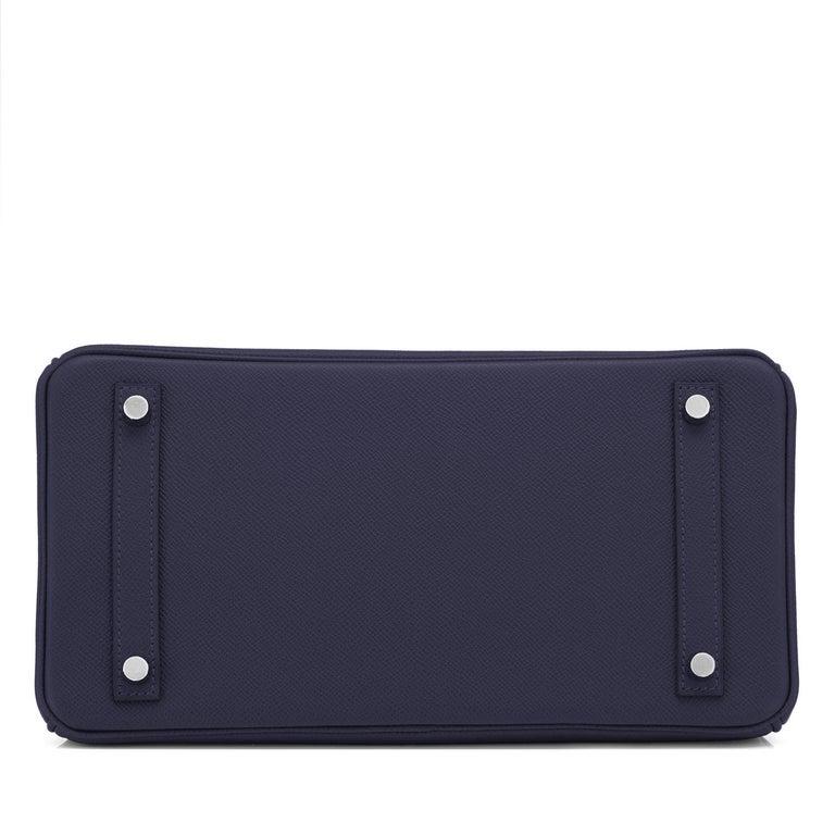 Hermes Birkin 30 Indigo Jewel Tone Navy Blue Epsom Palladium Bag Y Stamp, 2020 For Sale 3