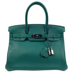 Hermes Birkin 30 Malachite Green Palladium Hardware