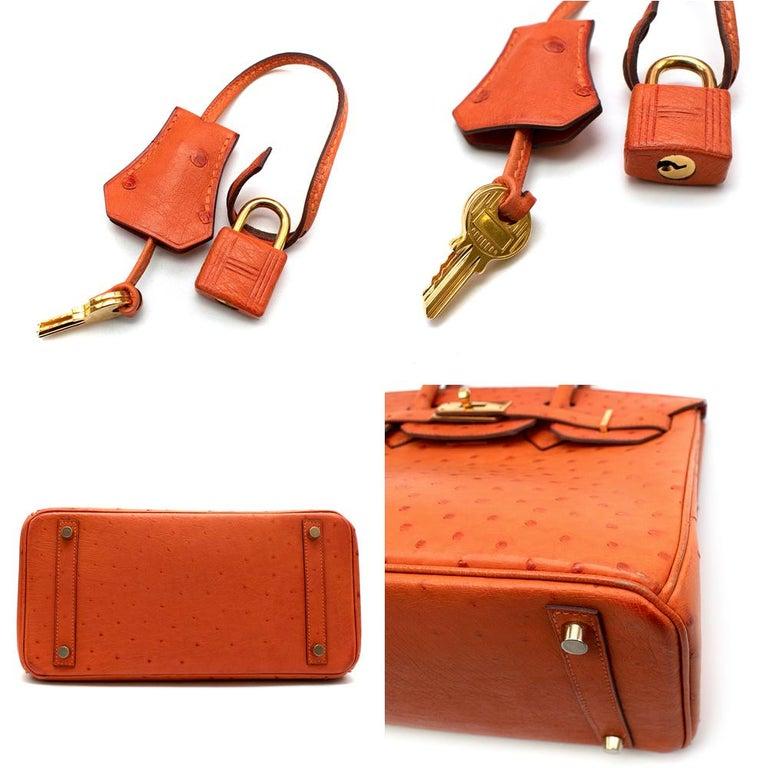 Hermes Birkin 30 Ostrich Tangerine GHW For Sale 1