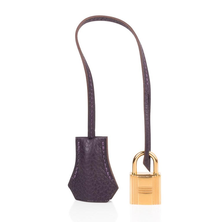 Coveted Raisin is re introduced in the original rich jewel tone. Fabulous neutral colour worn like a black bag. Divine with Gold hardware.  TOGO leather which is  scratch resistant and so luscious to the touch! NEW or NEVER WORN.  Comes with the