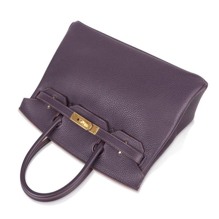 Hermes Birkin 30 Rich Raisin Gold Hardware Original Colour Togo Bag  For Sale 2