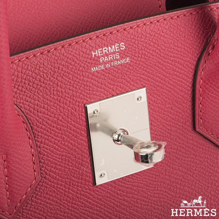 Women's Hermès Birkin 30 Rose Extreme Epsom PHW  For Sale