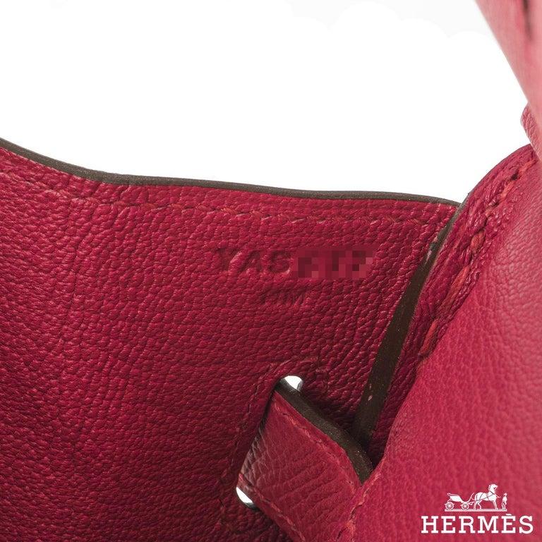 Hermès Birkin 30 Rose Extreme Epsom PHW  For Sale 1