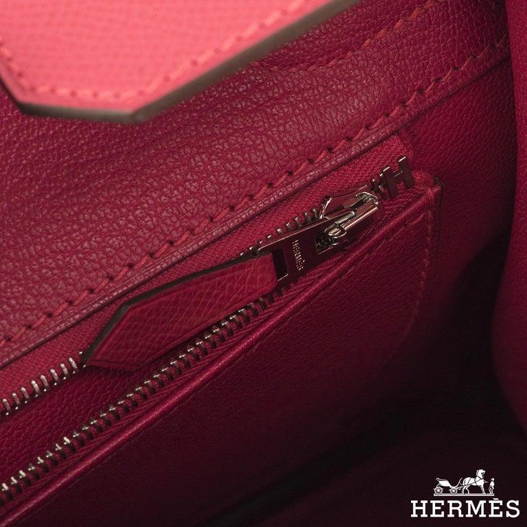 Hermès Birkin 30 Rose Extreme Epsom PHW  For Sale 2