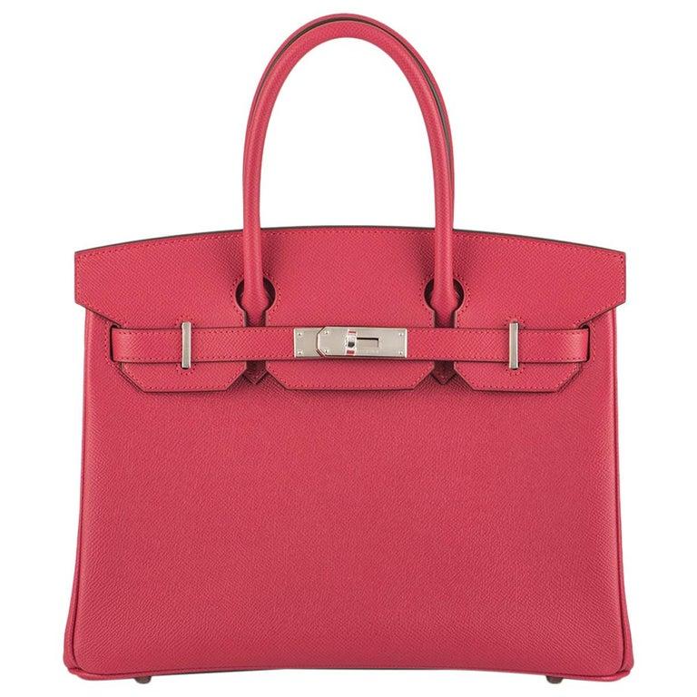 Hermès Birkin 30 Rose Extreme Epsom PHW  For Sale