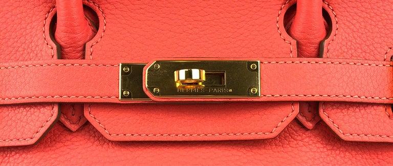 Hermes Birkin 30 Rose Jaipur Gold Hardware In Excellent Condition In Miami, FL