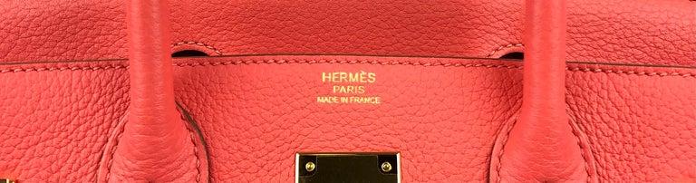 Women's or Men's Hermes Birkin 30 Rose Jaipur Gold Hardware