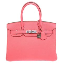 Hermés Birkin 30 Rose Lipstick handle bag