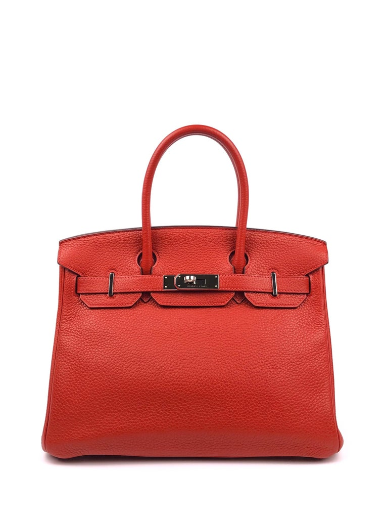 Hermes Birkin 30 Rouge Casaque Red Palladium Hardware. Excellent condition, light hairlines on hardware, perfect corners. Q Stamp 2013.  Shop with Confidence from Lux Addicts. Authenticity Guaranteed!