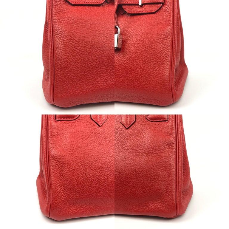 Hermes Birkin 30 Rouge Casaque Red Palladium Hardware For Sale 4