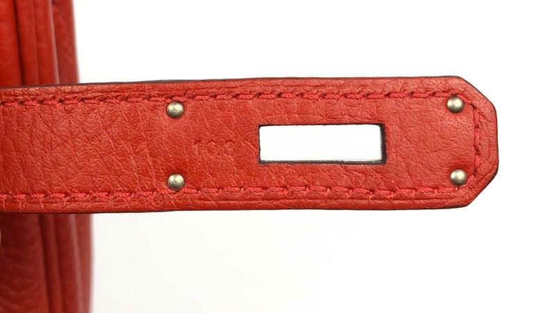 Hermes Birkin 30 Rouge Casaque Red Palladium Hardware For Sale 5